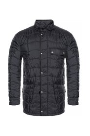 Quilted jacket with a band collar