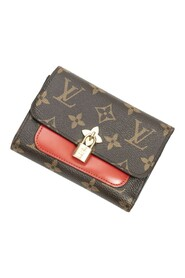 Pre-owned Compact Flower Wallet