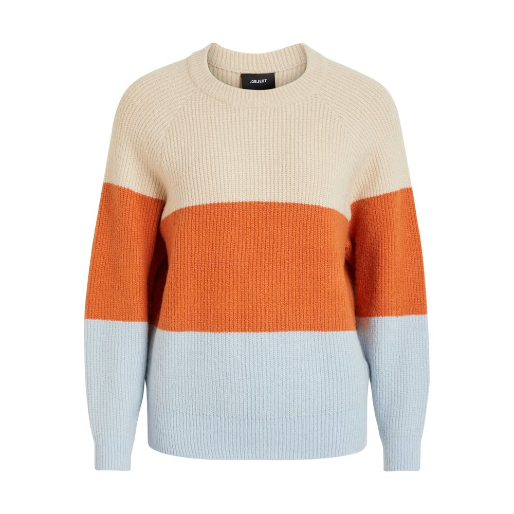 Pullover Colour block knitted
