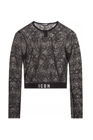 Lace T-shirt with logo