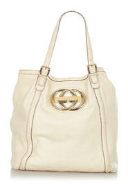 Pre-owned Web Britt Leather Tote Bag