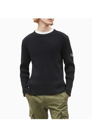 CALVIN KLEIN JEANS J30J314137 BADGE SWEATER KNITWEAR Men BLACK