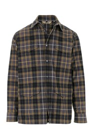 Shirt all over check pattern Front button closure Four patch pockets