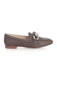 CROSSED LOAFER W/CHAIN