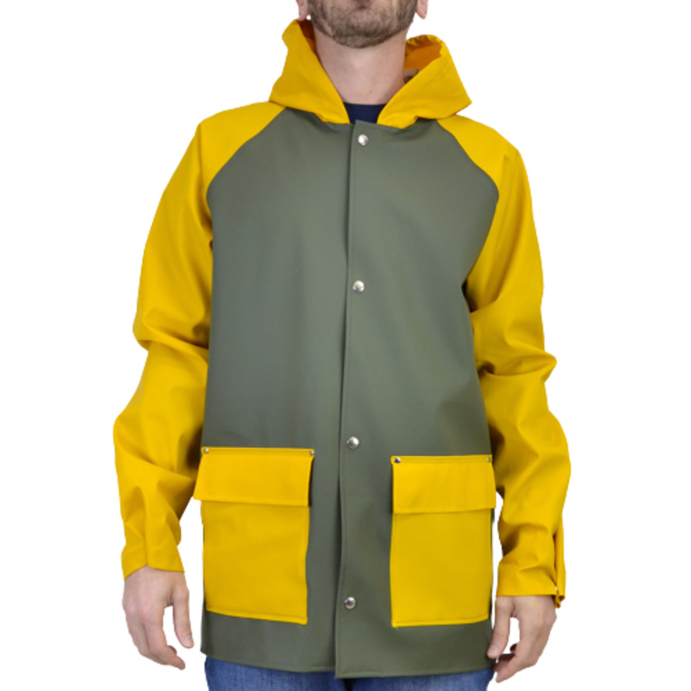Green/Yellow KLITMOLLER-BLOCKCOL JACKET E-033815 | Elka | Regenjassen | Heren winter kleren