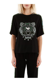 Tiger embroidery top