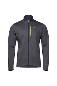 Bergans Fløyen Fleece Jakke Herre Solid Dark Grey/Sprout Green