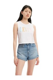 LEVIS 39810 0037 GRAPHIC CROP T SHIRT AND TANK Women WHITE