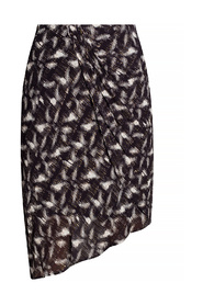 Patterned skirt with gathers