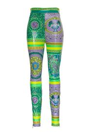 Leggings with Barocco Patchwork print