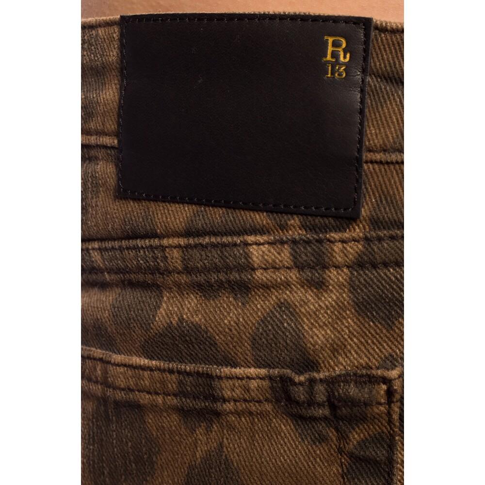 BROWN Leopard print jeans | R13 | Bukser | Miinto.no