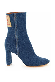 pointy patent ankle boots