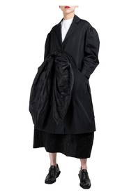 Front Taffeta Bow Duster Coat