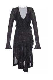 Asymetryczna sukienka z wiązaniem