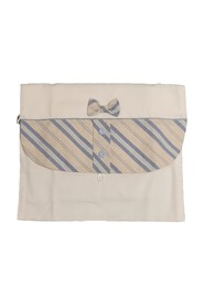 BIRTH BAG IN COTTON WITH BAND AND STRIPED BOW