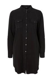SILLA LS SHORT DRESS BLCK GA NOOS 10206339
