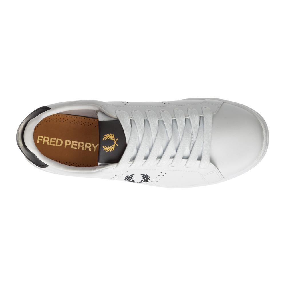 White Heren schoenen leather trainers sneakers b721 | Fred Perry | Sneakers | Herenschoenen