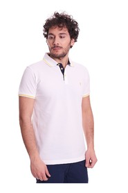REGULAR FIT POLO SHIRT WITH CONTRASTING STRIPE