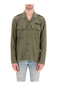 Cotton and cashmere military shirt
