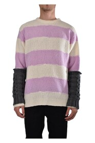 MAXI STRIPED JUMPER CREW NECK SWEATER
