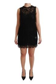 Sleeveless Lace Cotton Mini Dress