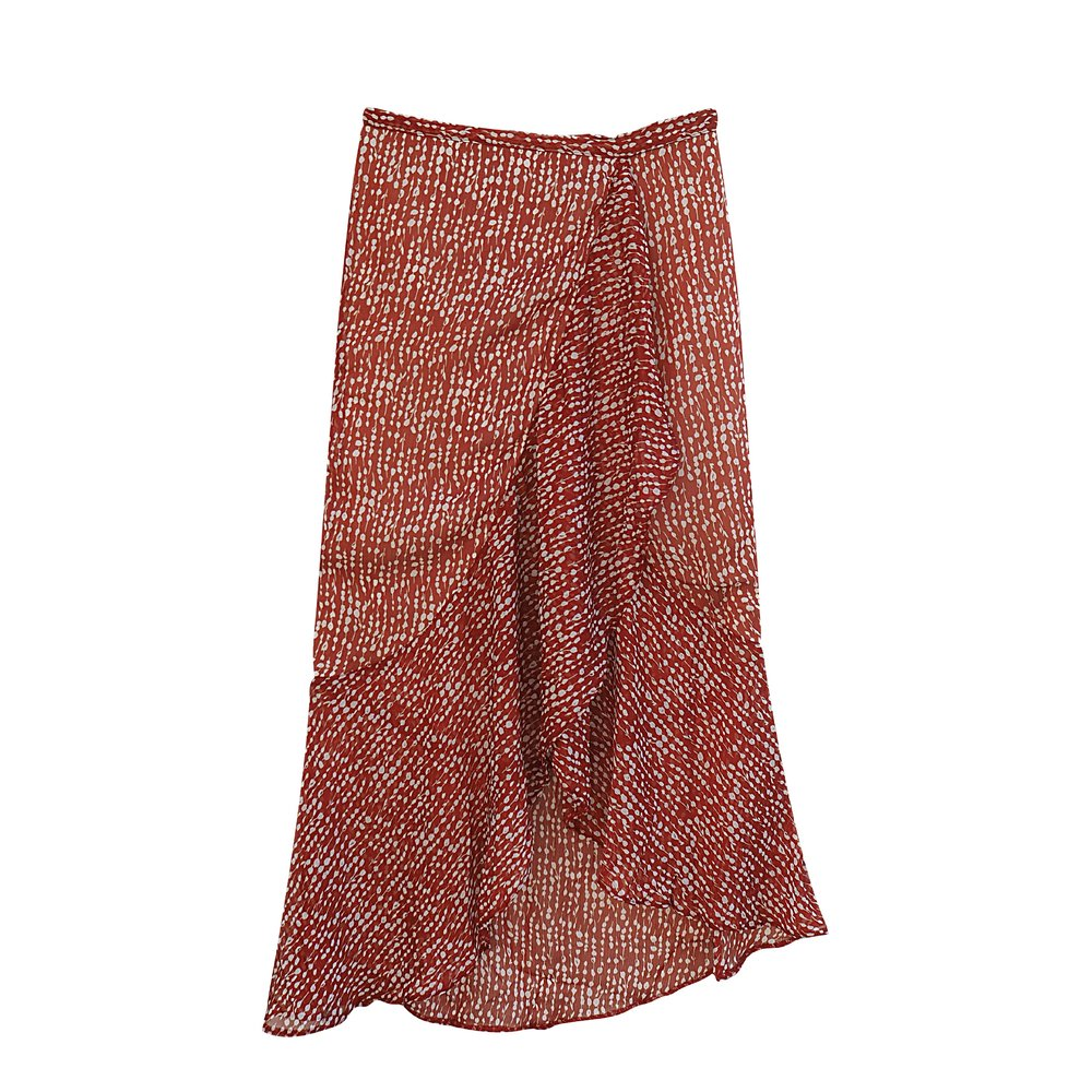 LILLY Terracotta Wrap-Skirt