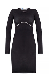 Fitted dress with logo