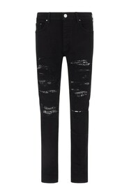 distressed-effect slim-fit jeans