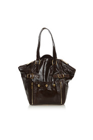 Patent Leather Downtown Tote Bag