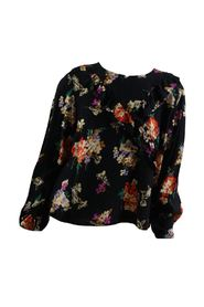 Sweater with floral pattern