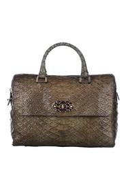 Python Embossed Lily Handbag Leather