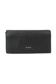 pre-owned 7M0186 Leather Long Wallet (bi-fold)