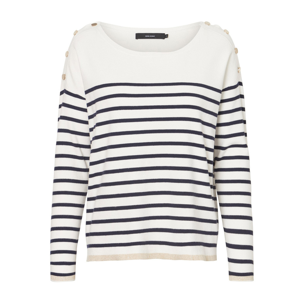 LAURIE HAPPY LS O-NECK BLOUSE