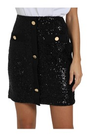 HIGH WAIST SKIRT WITH SEQUINS AND BUTTONS