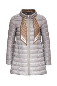 Down Jacket with logoed Foulard detail