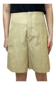 Nøytrale shorts med høy midje