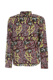 AILORED FIT L/S SHIRT W/LEAVES
