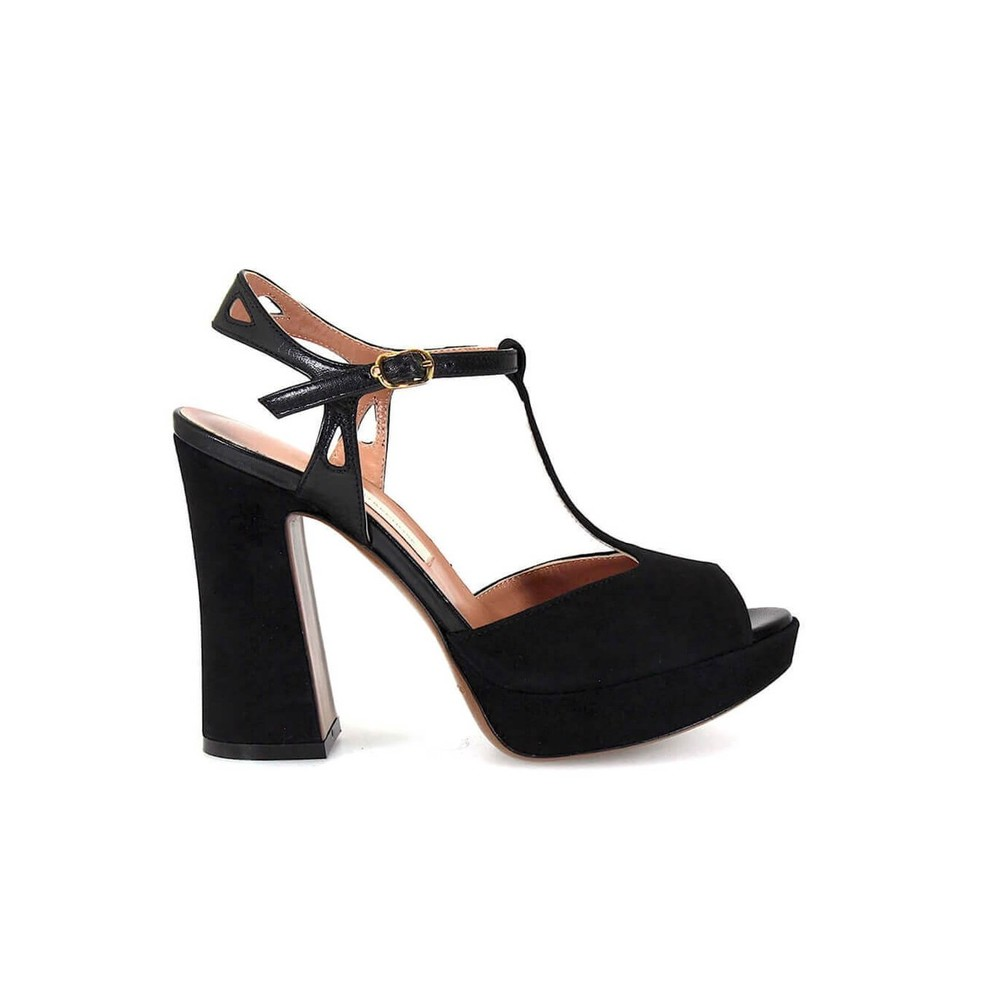 CHOSE LEATHER OCH SUEDE PLATFORM SANDALS