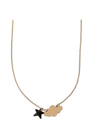 NECKLACE CLOUD ROSE GOLD AND BLACK ENAMELED STAR