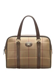 Plaid Canvas Handbag