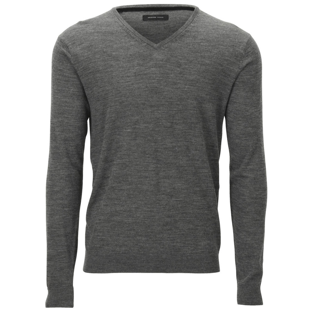 V-neck - Knitted Pullover
