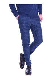 TELE ZED PANTS IN PURE WOOL WITH BLUE EDWARD SQUARES