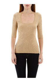 Lurex knit top
