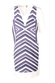 Zig Zag Print V-Neck Shift Dress -Pre