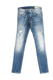 DIESEL SKINZEE-LOW-J 00J3S6 JEANS Girl DENIM MEDIUM BLUE