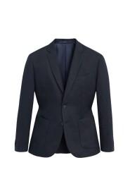 Slim fit jakke i 100 % hør
