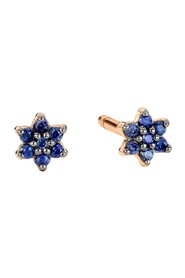 Mini Star rose gold and sapphire stud earrings