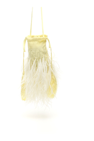 Feathers and beads mini bag