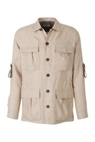 Cotton and Linen Safari Jacket