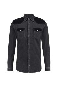 Zwart PureWhite 19030203-02 Overhemd
